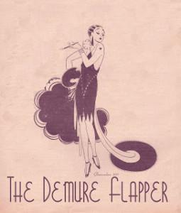 The demure flapper